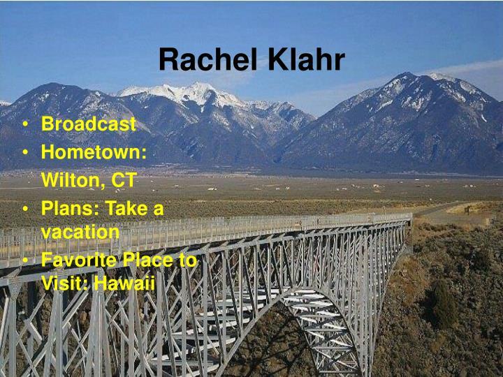 Rachel Klahr