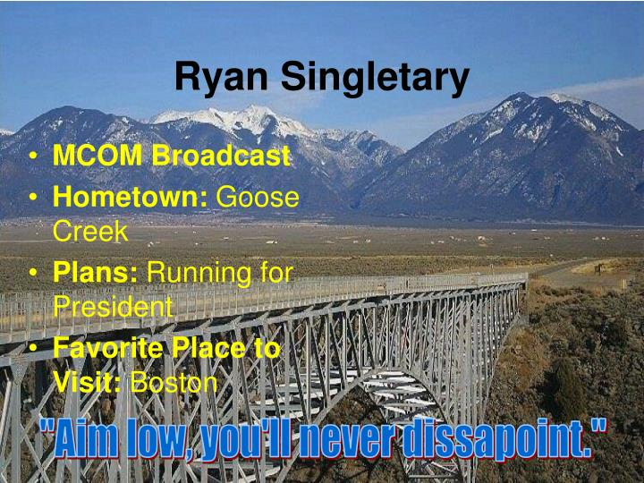Ryan Singletary