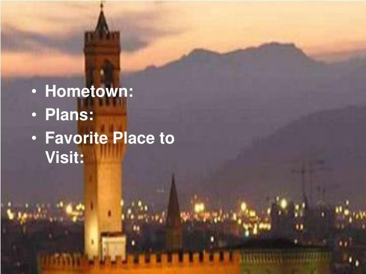 Hometown: