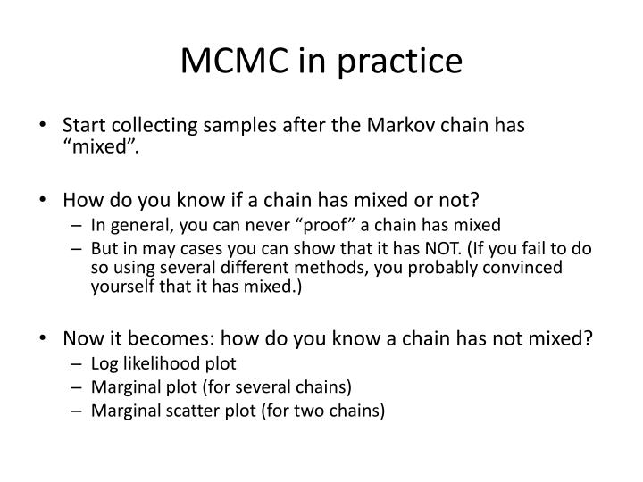 Mcmc in practice