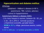 hypocorticalism and diabetes mellitus