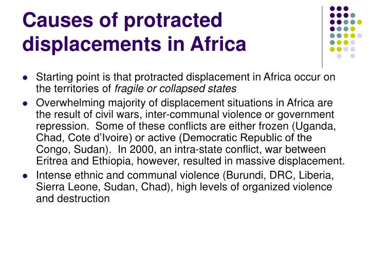 Causes of protracted displacements in Africa