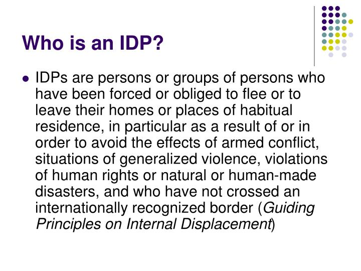 Who is an idp