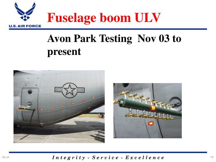 Fuselage boom ULV
