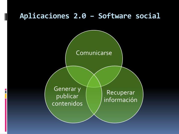 Aplicaciones 2.0 – Software social