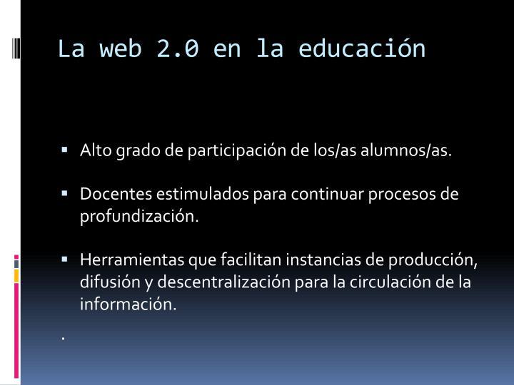 La web 2.0 en la educación