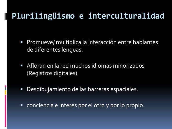 Plurilingüismo e interculturalidad