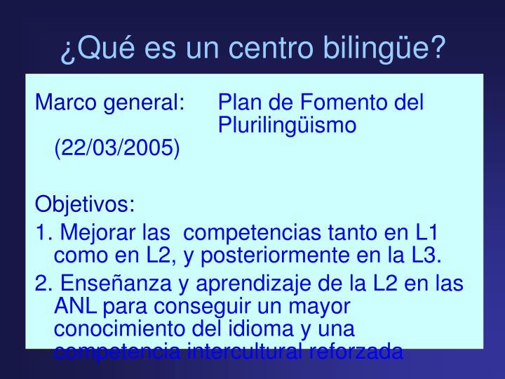 Qu es un centro biling e