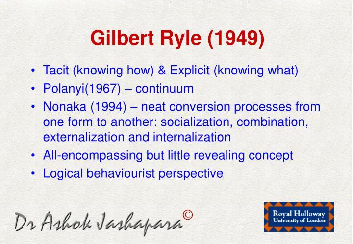 Gilbert Ryle (1949)