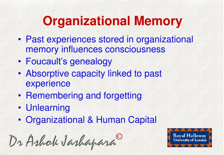 Organizational Memory