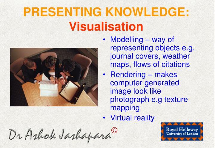 PRESENTING KNOWLEDGE: