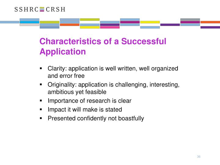 Characteristics of a Successful Application