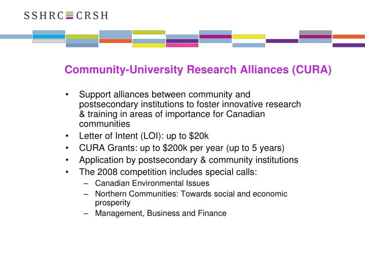 Community-University Research Alliances (CURA)