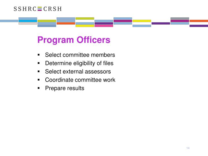 Program Officers