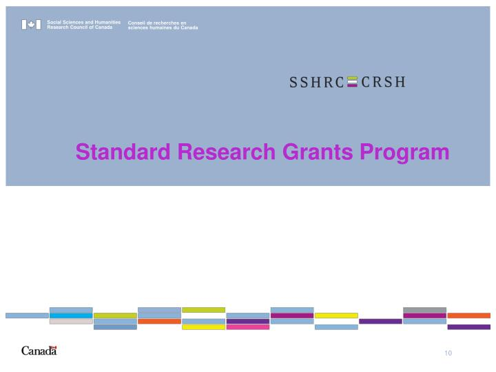 Standard Research Grants Program