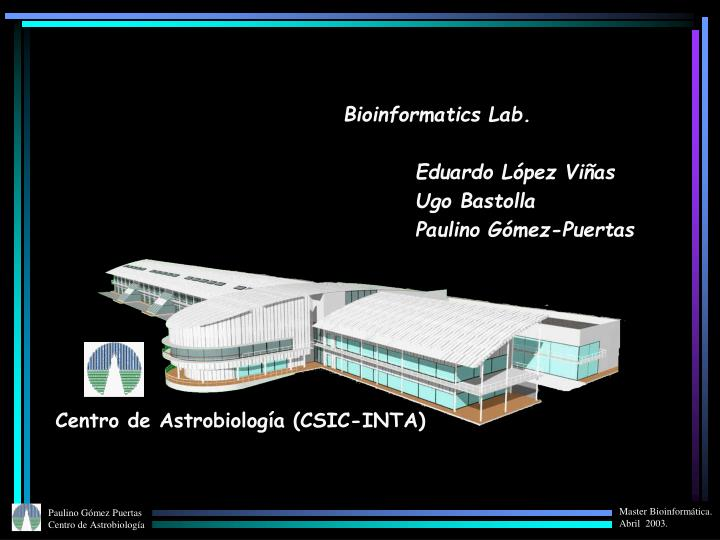 Bioinformatics Lab