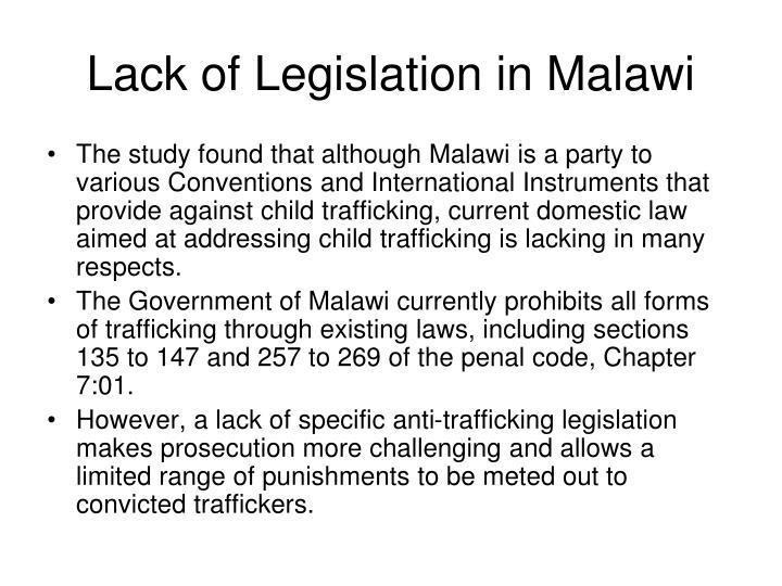 Lack of Legislation in Malawi