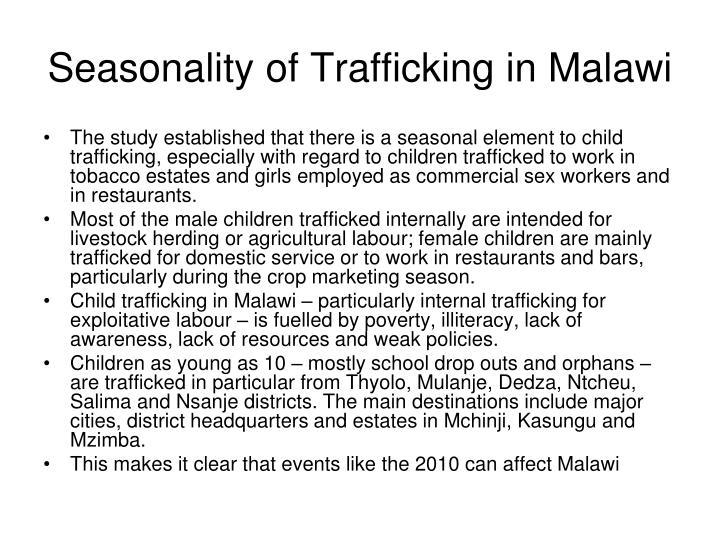 Seasonality of Trafficking in Malawi