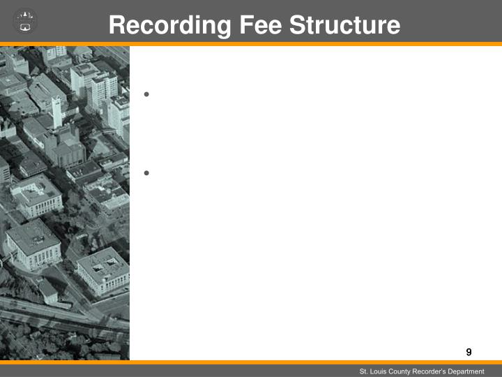 Recording Fee Structure