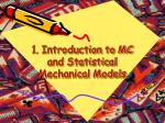 1 introduction to mc and statistical mechanical models