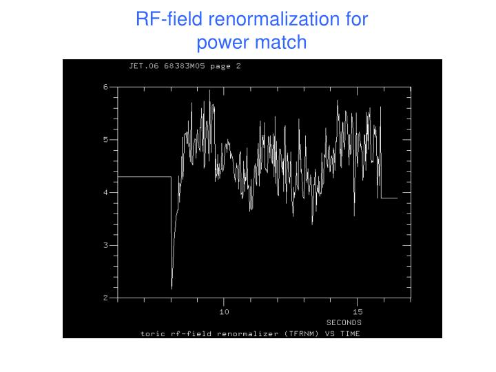 RF-field renormalization for power match