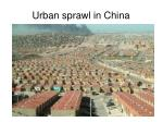 urban sprawl in china