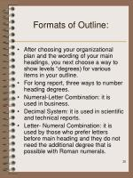 formats of outline