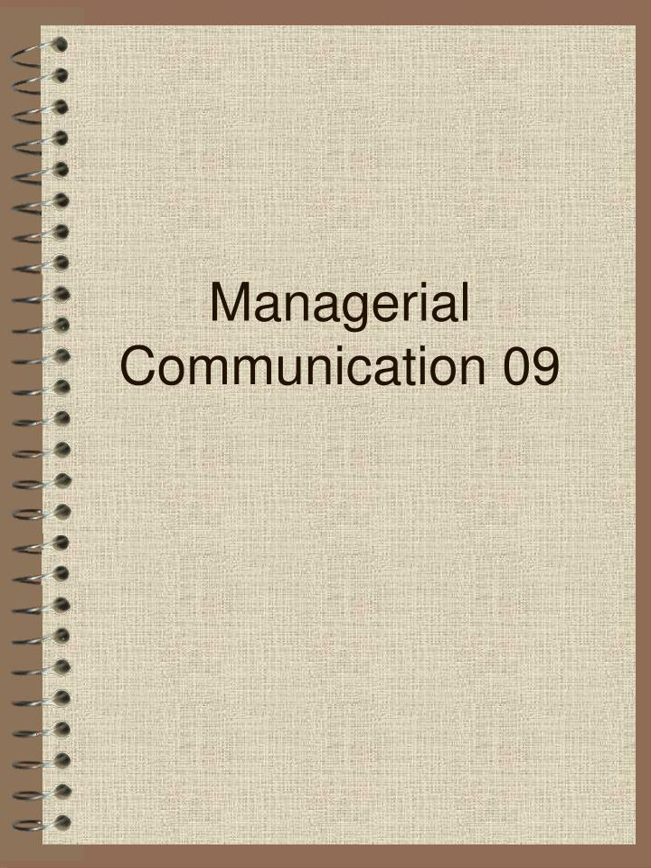 managerial communication 09 n.
