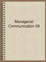 managerial communication 09