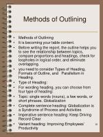 methods of outlining
