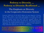 pathway to diversity 10 91 pathway to diversity reaffirmed 10 93