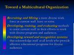 toward a multicultural organization