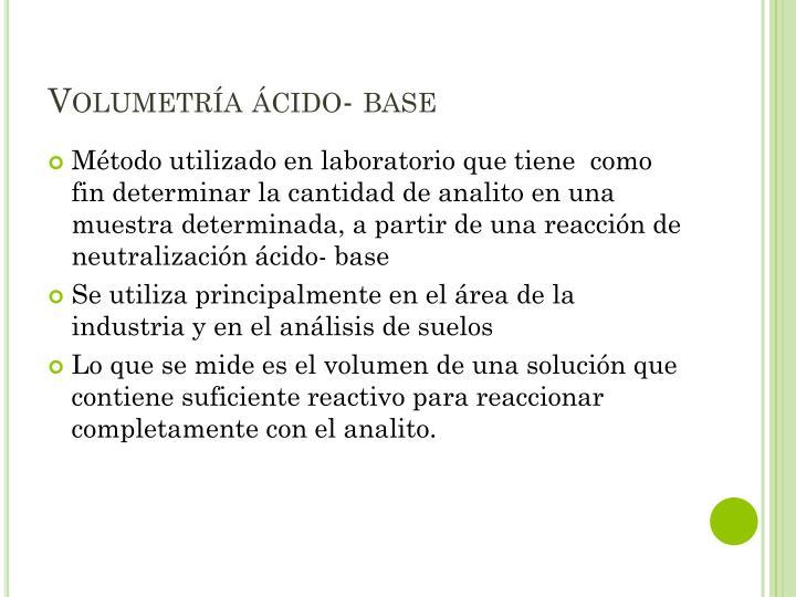 Volumetr a cido base1
