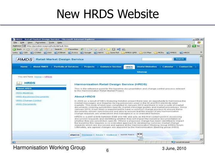 New HRDS Website