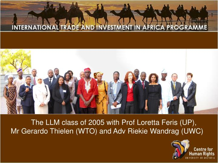 The LLM class of 2005 with Prof Loretta Feris (UP),