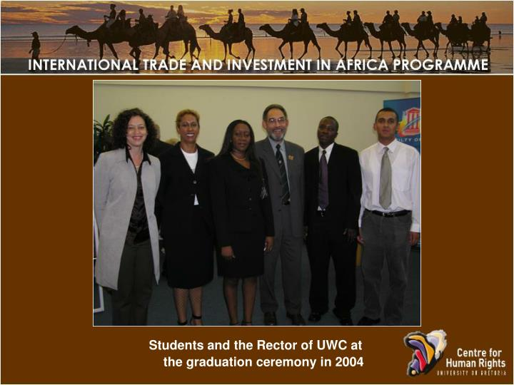 Students and the Rector of UWC at