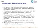 conclusions and the future work