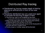 distributed ray tracing14