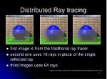 distributed ray tracing8