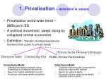 1 privatisation definition values