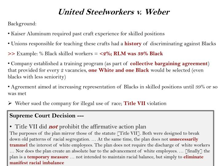 United Steelworkers v. Weber