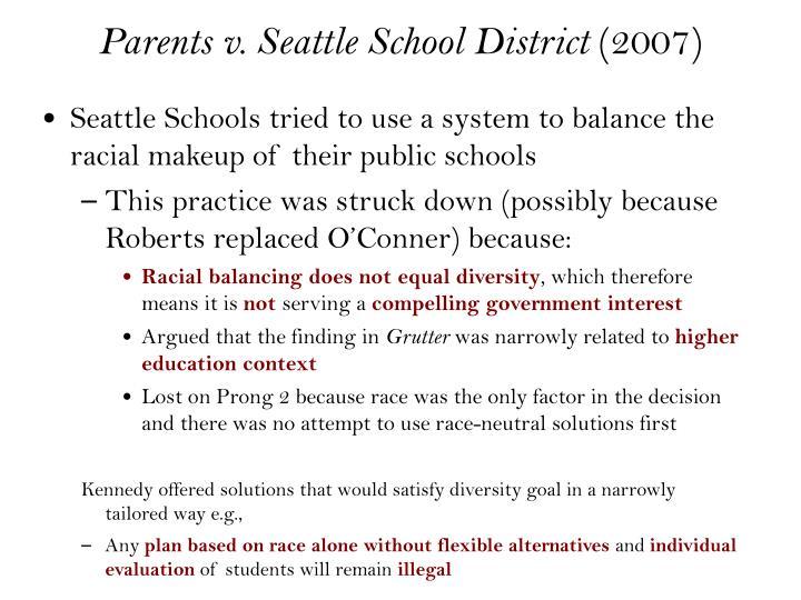 Parents v. Seattle School District