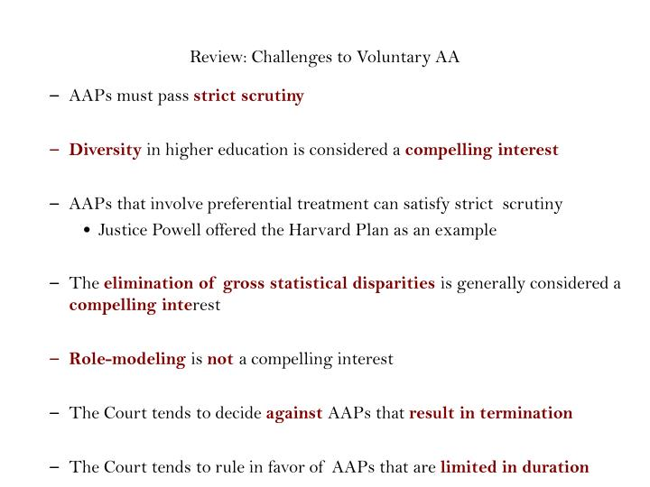 Review: Challenges to Voluntary AA