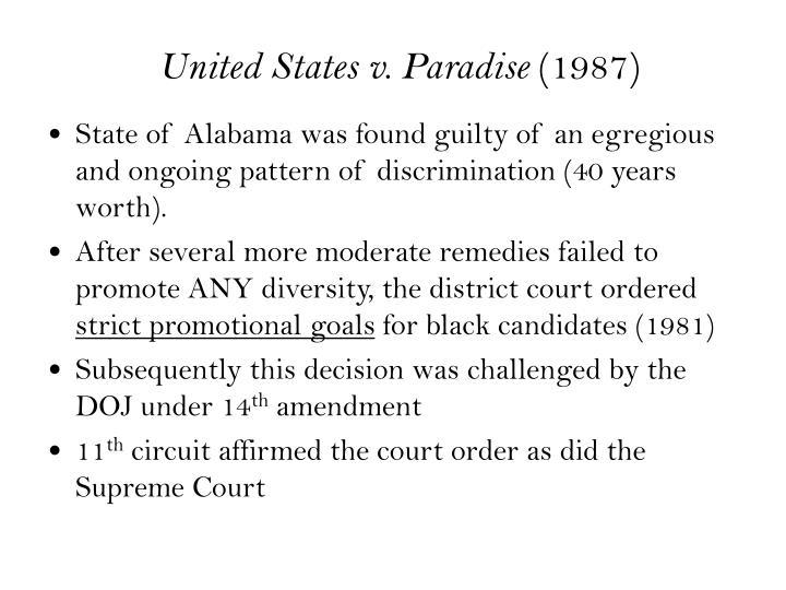 United States v. Paradise
