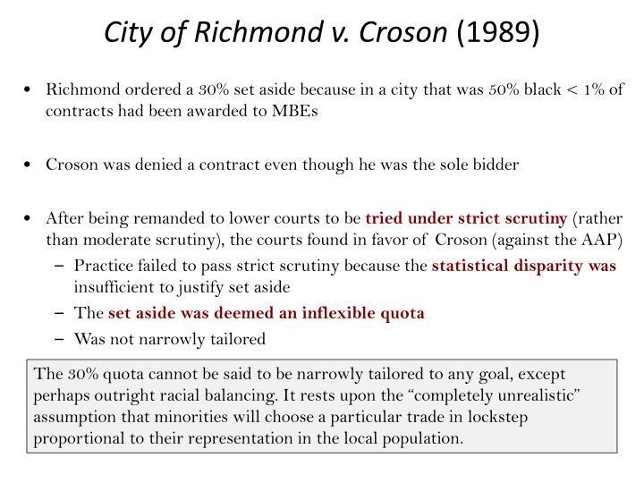 City of Richmond v. Croson
