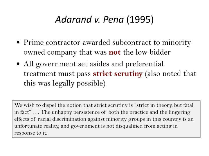 Adarand v. Pena