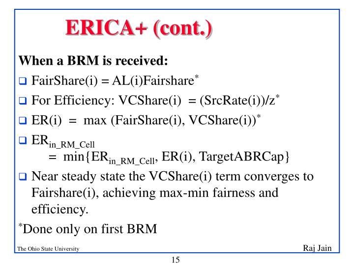 ERICA+ (cont.)