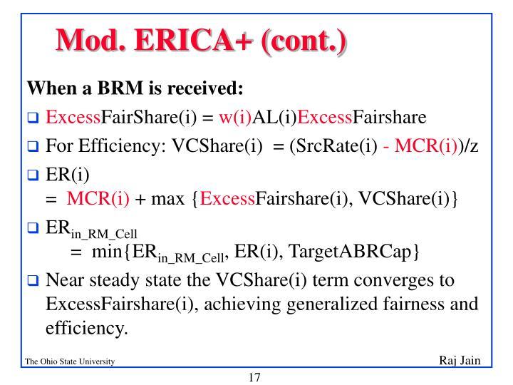 Mod. ERICA+ (cont.)