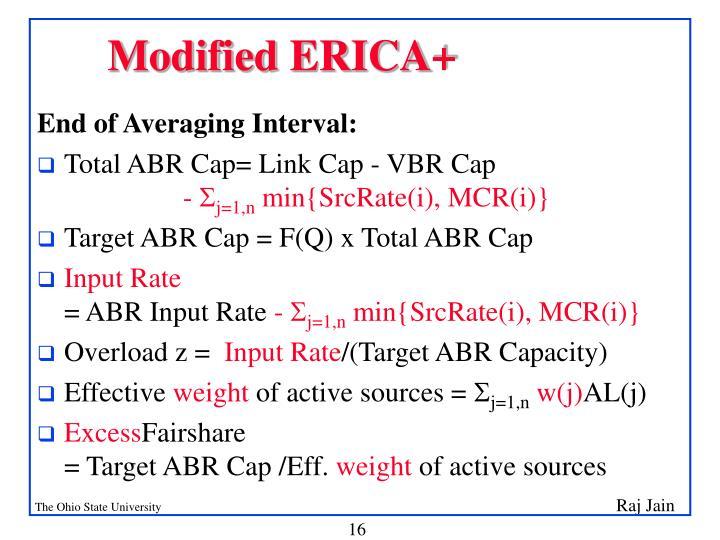 Modified ERICA+