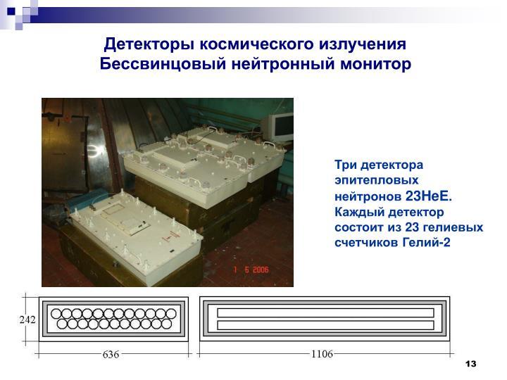 Детекторы космического излучения Бессвинцовый нейтронный монитор